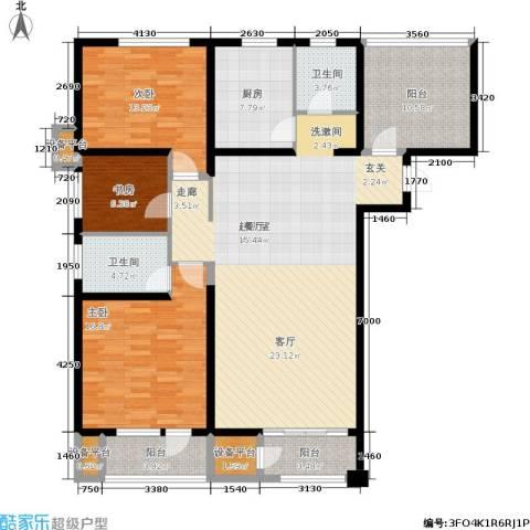 财富天下3室0厅2卫1厨170.00㎡户型图