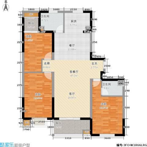 上城上林苑3室1厅2卫0厨152.00㎡户型图