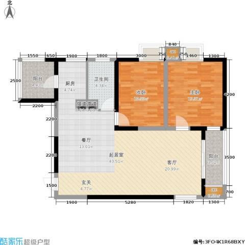 上城上林苑2室0厅1卫0厨116.00㎡户型图