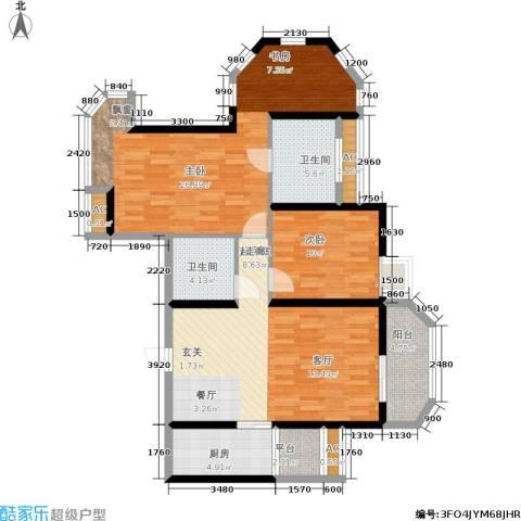 华城泊郡二期2室0厅2卫1厨121.00㎡户型图