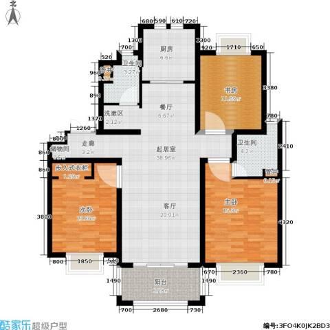 旭辉朗悦庭3室0厅2卫1厨115.00㎡户型图