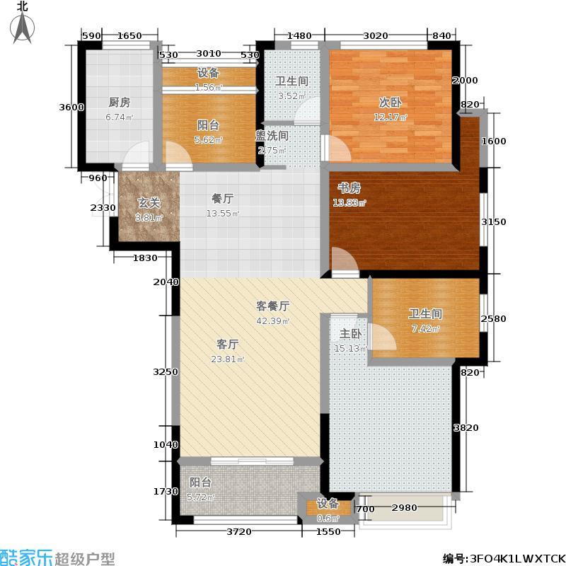 龙湖锦艺城134.00㎡观锦户型3室2厅