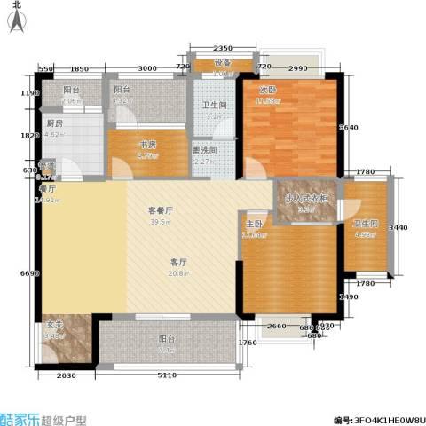 招商・卡达凯斯3室1厅2卫1厨131.00㎡户型图