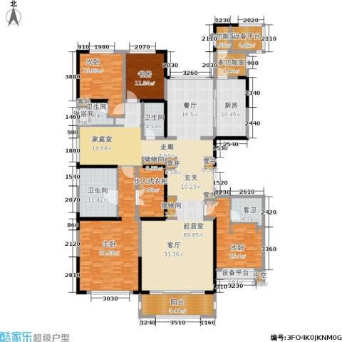中海紫御豪庭4室0厅3卫1厨259.00㎡户型图
