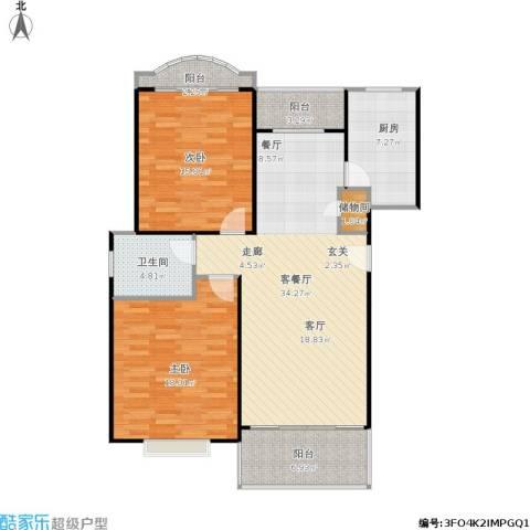 云润家园一期2室1厅1卫1厨126.00㎡户型图
