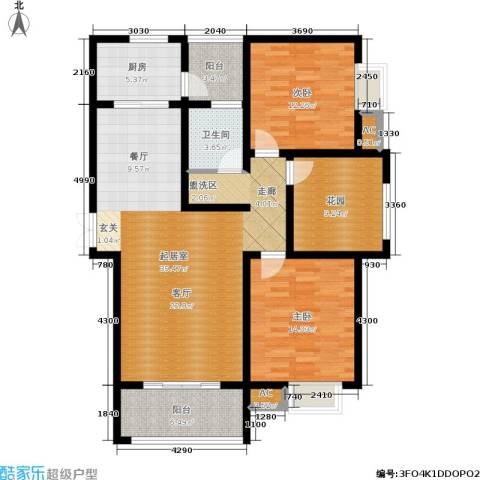 和谐景苑2室0厅1卫1厨117.00㎡户型图