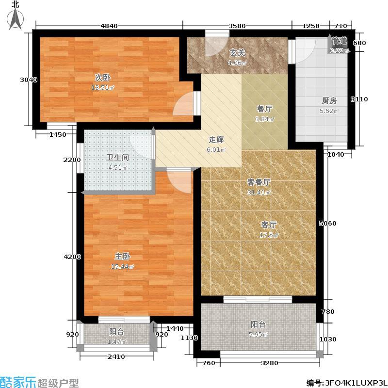 永恒理想世界89.49㎡2-3建筑面积8949/户型2室2厅