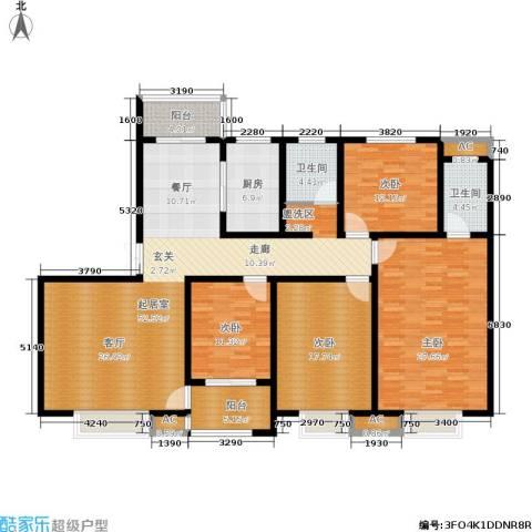 和谐景苑4室0厅2卫1厨178.00㎡户型图