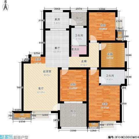 和谐景苑3室0厅2卫1厨140.00㎡户型图