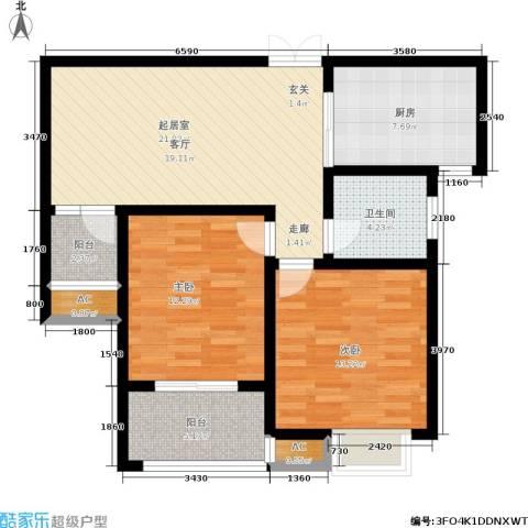 和谐景苑2室0厅1卫1厨87.00㎡户型图