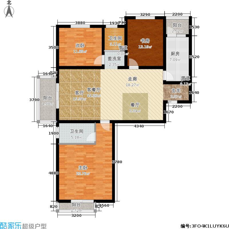 永恒理想世界132.94㎡7-2户型3室3厅