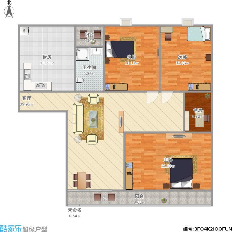 宋都西湖花苑120方三室两厅
