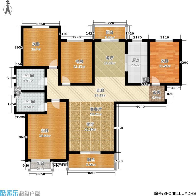 永恒理想世界158.79㎡10-1户型4室2厅