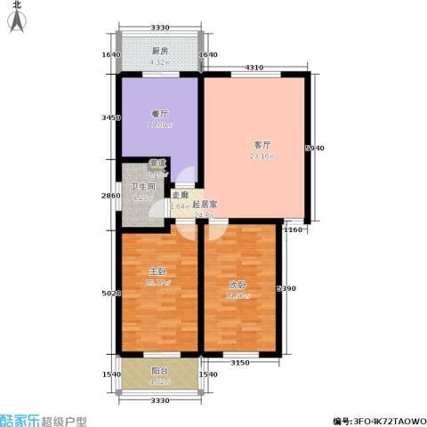 九龙苑2室1厅1卫1厨96.00㎡户型图