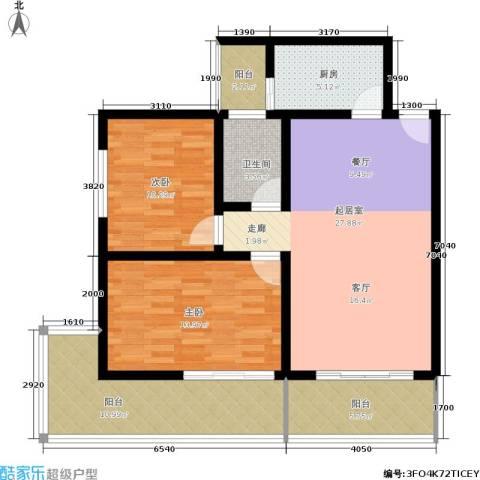 九龙苑2室0厅1卫1厨101.00㎡户型图