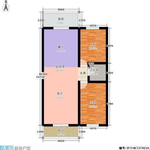 九龙苑2室0厅1卫1厨100.00㎡户型图