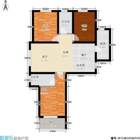 东龙府邸3室0厅2卫1厨123.00㎡户型图