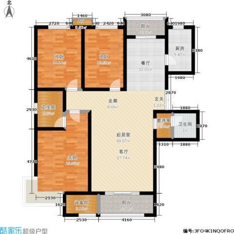 卓达上院3室0厅2卫1厨140.00㎡户型图