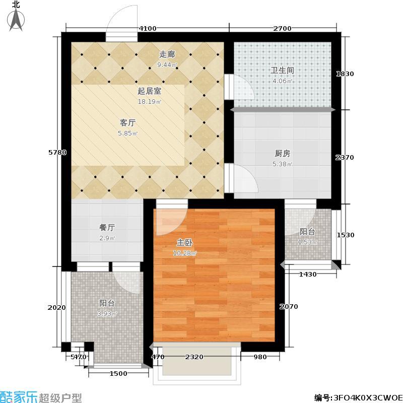 公园里62.00㎡2-3号楼/5号楼D户型1室1厅