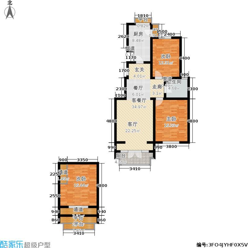 龙泽馨园152.00㎡一期洋房产品11、13-16号楼标准层Y1户型