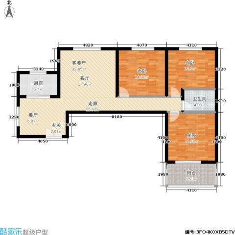 阳光北郡3室1厅1卫1厨112.00㎡户型图