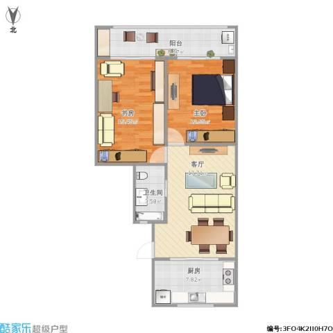 宝昌路847弄小区2室1厅1卫1厨89.00㎡户型图