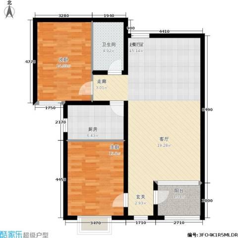 东龙府邸2室0厅1卫1厨118.00㎡户型图