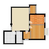 胜中尚东水润95.00㎡A户型 两室两厅一卫户型2室2厅1卫-副本