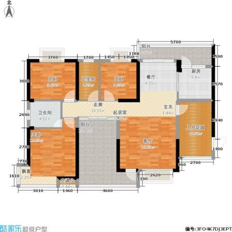 惠东金河湾花园3室0厅2卫1厨131.00㎡户型图