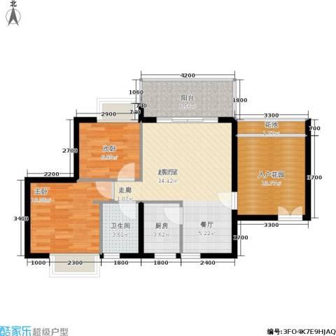翠堤尚园2室0厅1卫1厨77.00㎡户型图