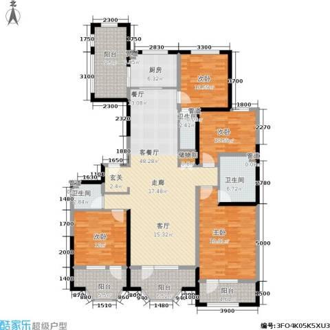 保利海德公园4室1厅3卫1厨176.00㎡户型图