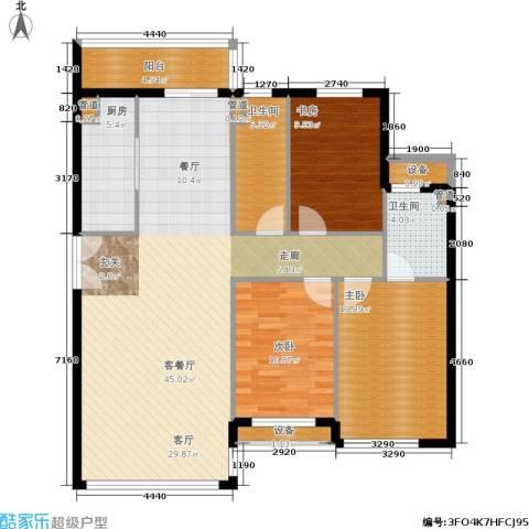 东升御景苑二期3室1厅2卫1厨136.00㎡户型图