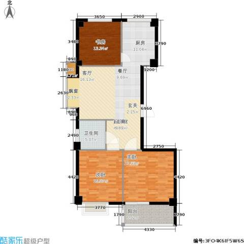辰隆星河城3室0厅1卫0厨110.00㎡户型图