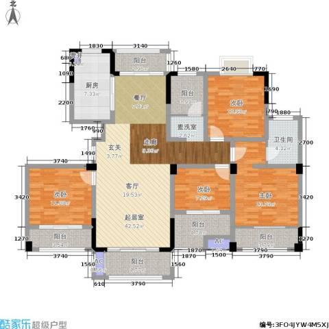 嘉乐城4室0厅1卫1厨143.00㎡户型图