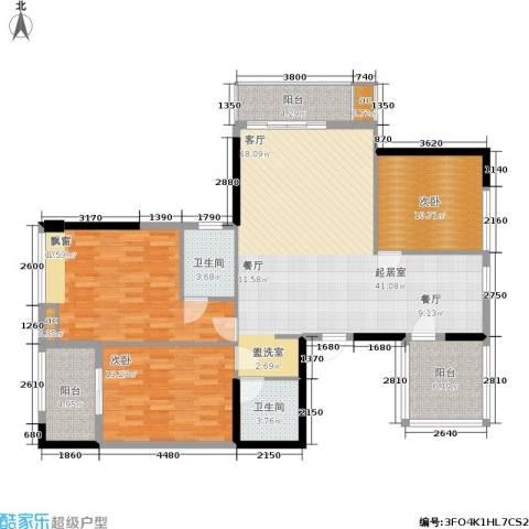 上东曼哈顿3室0厅2卫0厨118.00㎡户型图