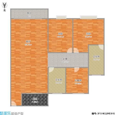 逸园3室1厅2卫1厨231.00㎡户型图