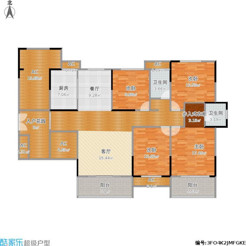 长燃新奥佳园167平4房2厅2卫