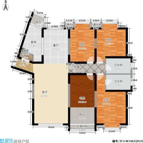 剑桥春雨4室1厅2卫1厨184.00㎡户型图
