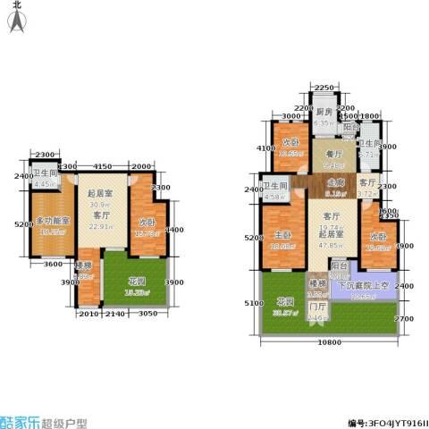 香江东湖印象4室0厅3卫1厨239.25㎡户型图