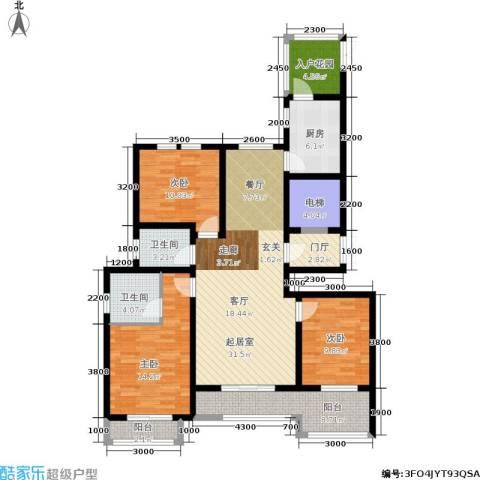 香江东湖印象3室0厅2卫1厨139.00㎡户型图