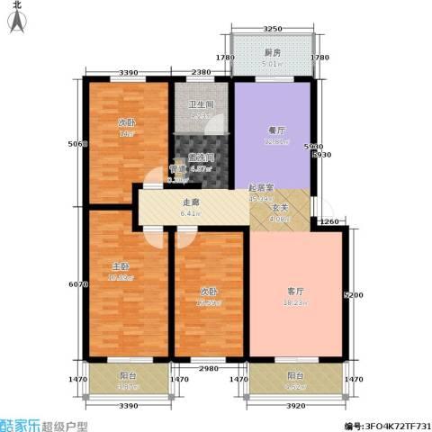 九龙苑3室0厅1卫1厨132.00㎡户型图