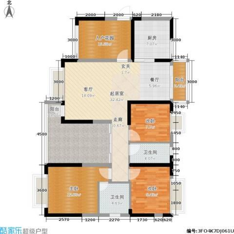 惠东金河湾花园3室0厅2卫1厨129.00㎡户型图