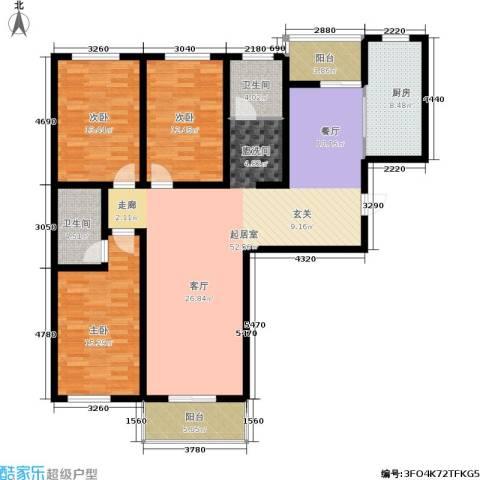 九龙苑3室0厅2卫1厨143.00㎡户型图