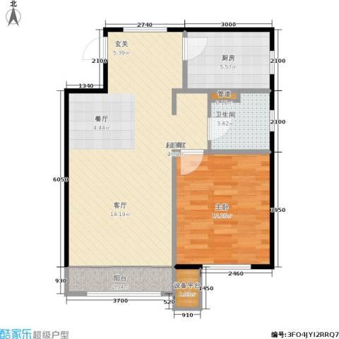 经纬城市绿洲海旋园1室0厅1卫1厨68.00㎡户型图