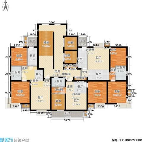 天房峰阁5室0厅3卫3厨223.89㎡户型图