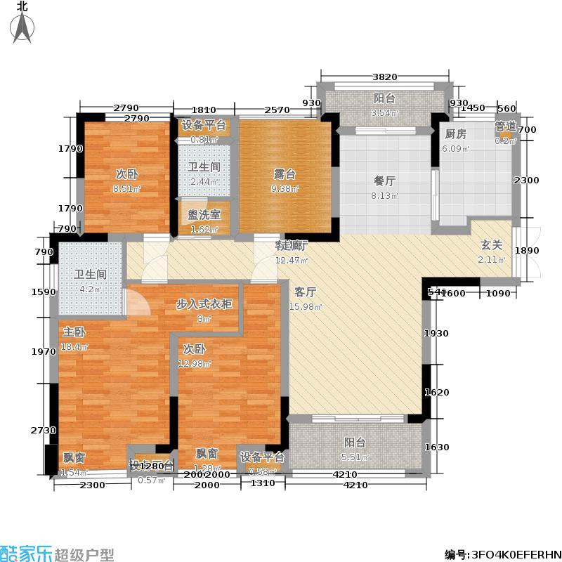 中国电建湘熙水郡142.00㎡A1-2户型