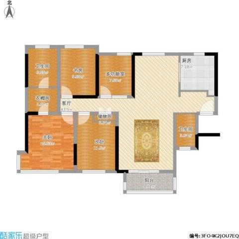 禅城绿地中心3室1厅2卫1厨176.00㎡户型图