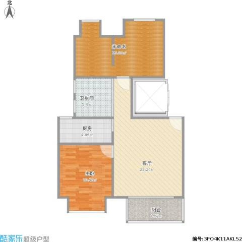 万科金色城市1室1厅1卫1厨91.00㎡户型图