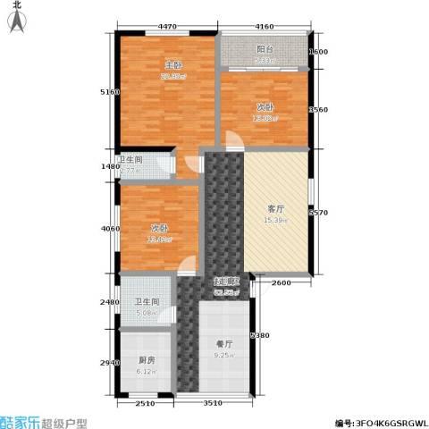 丽都桃源3室0厅2卫1厨156.00㎡户型图