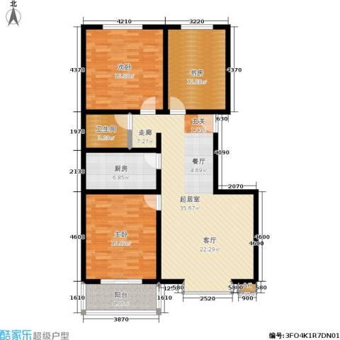 朱雀门3室0厅1卫1厨137.00㎡户型图